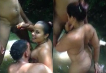 Indian Aunty Gangbang At The Lake
